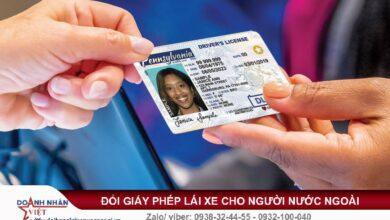Đổi giấy lái xe cho người nước ngoài ở Đồng Nai