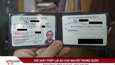 Đổi giấy phép lái xe cho người Trung Quốc