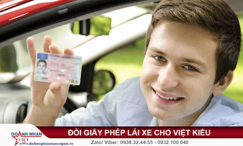 Đổi giấy phép lái xe cho Việt Kiều