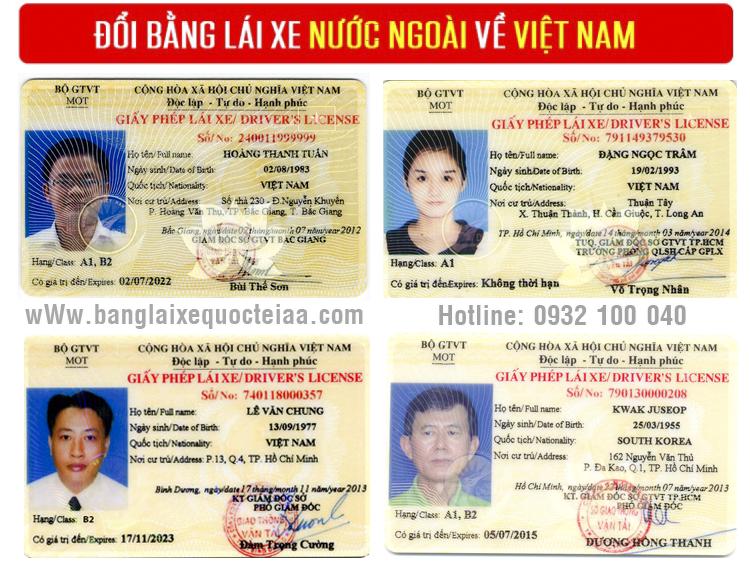 Đổi giấy phép lái xe Hàn Quốc sang Việt Nam