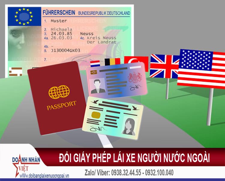 Đổi giấy phép lái xe người nước ngoài