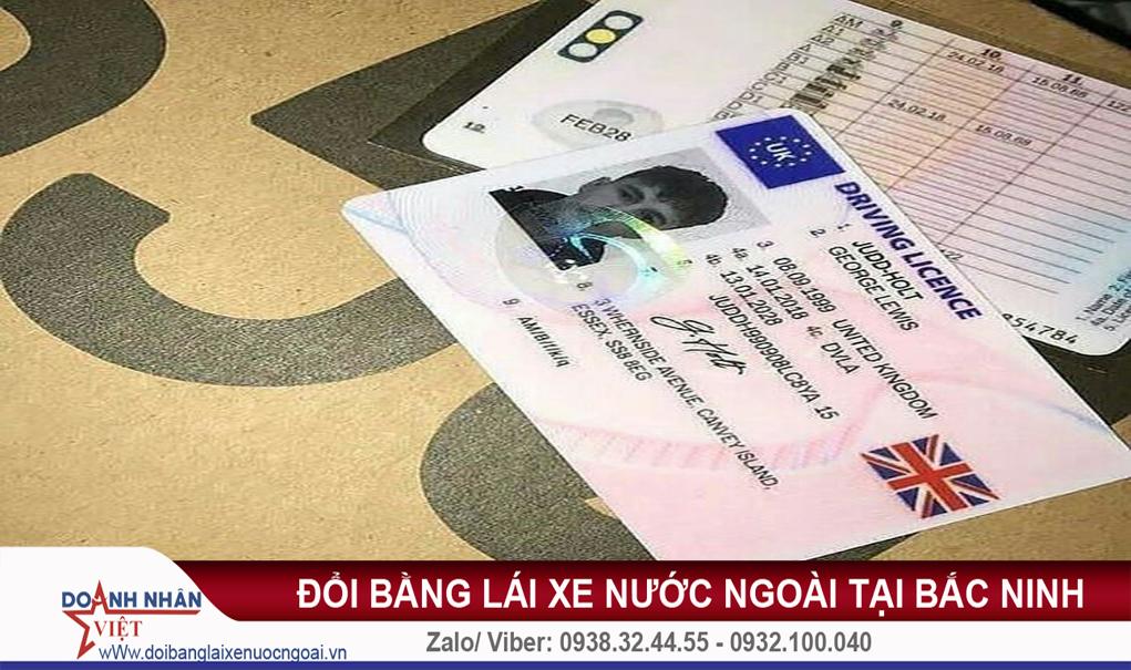 Đổi bằng lái xe nước ngoài tại Bắc Ninh