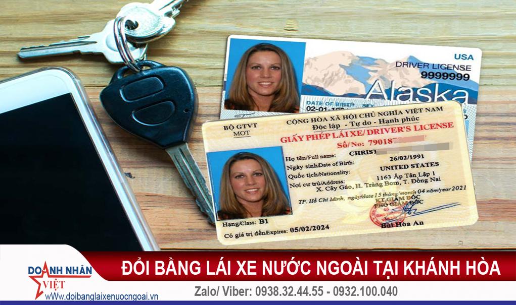 Đổi bằng lái xe nước ngoài tại Khánh Hòa