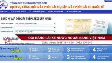 Đổi giấy phép lái xe qua mạng