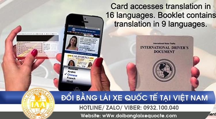 Đổi giấy phép lái xe quốc tế tại Hà Nội