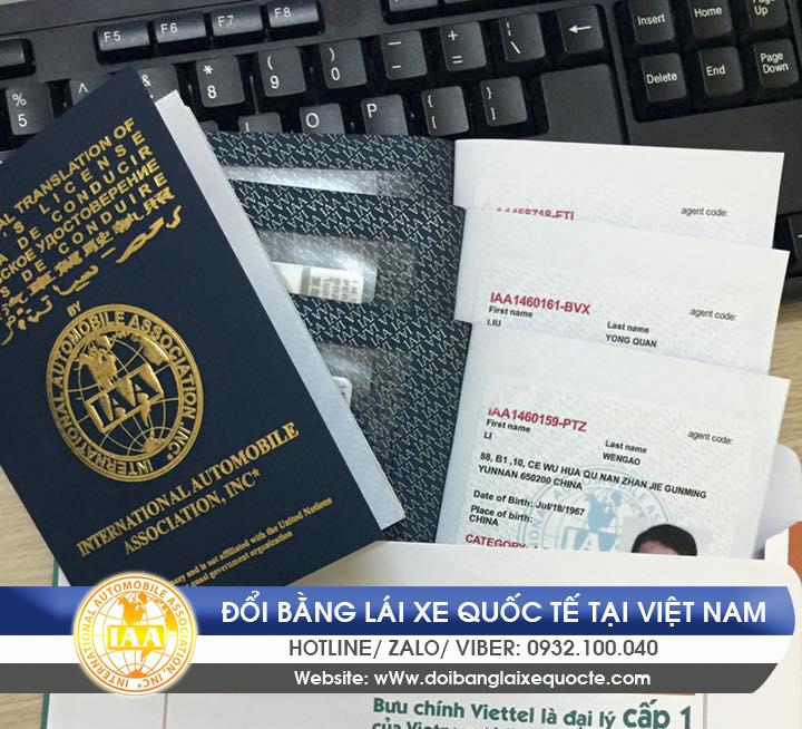 Đổi giấy phép lái xe quốc tế tại TPHCM