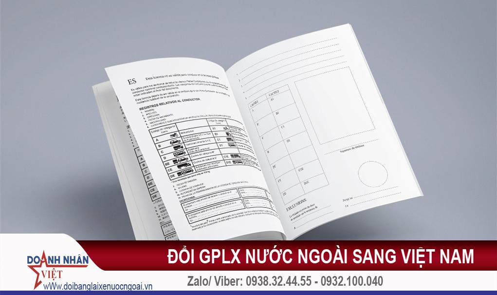 Đổi GPLX nước ngoài sang Việt Nam
