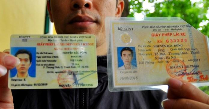 Thủ tục đổi giấy phép lái xe sang thẻ nhựa