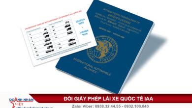 Giấy phép lái xe quốc tế IAA