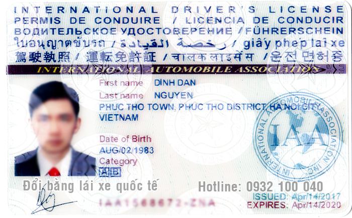Kiểm tra bằng lái xe quốc tế IAA