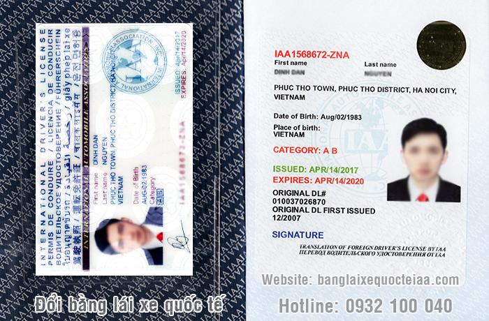 Thông tin đổi bằng lái xe Quốc Tế IAA Mỹ
