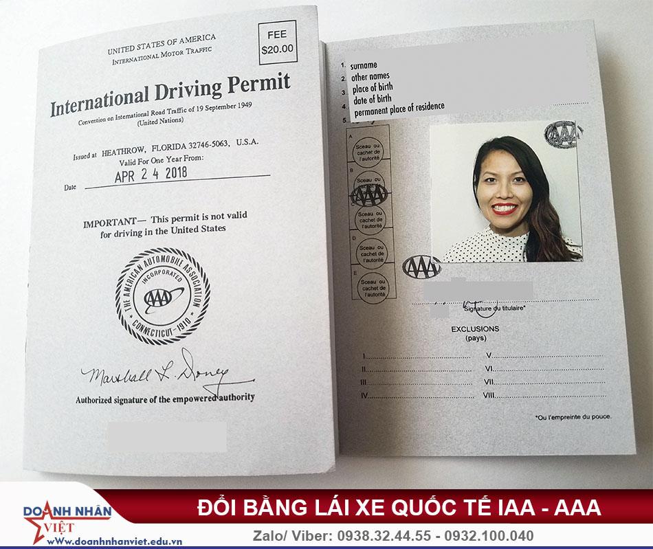 Bằng lái xe quốc tế mỹ