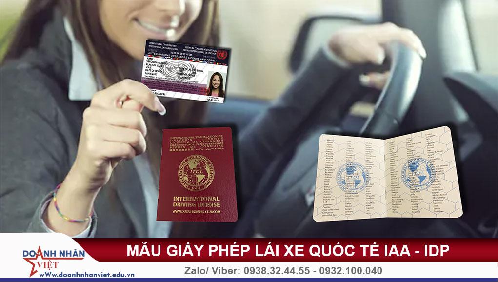 Mẫu giấy phép lái xe quốc tế