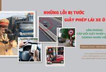 Những lỗi bị tước giấy phép lái xe ô tô