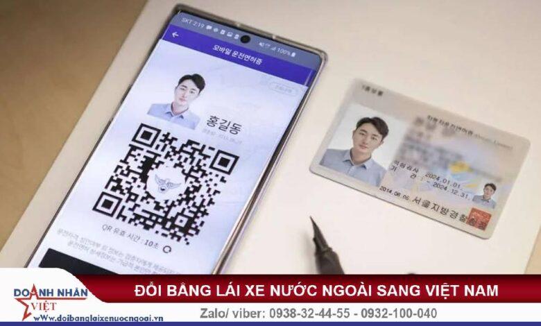 Phí đổi bằng lái xe Hàn Quốc sang Việt Nam