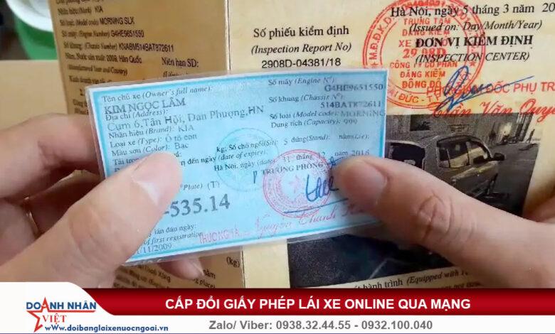 Sử dụng giấy đăng ký xe