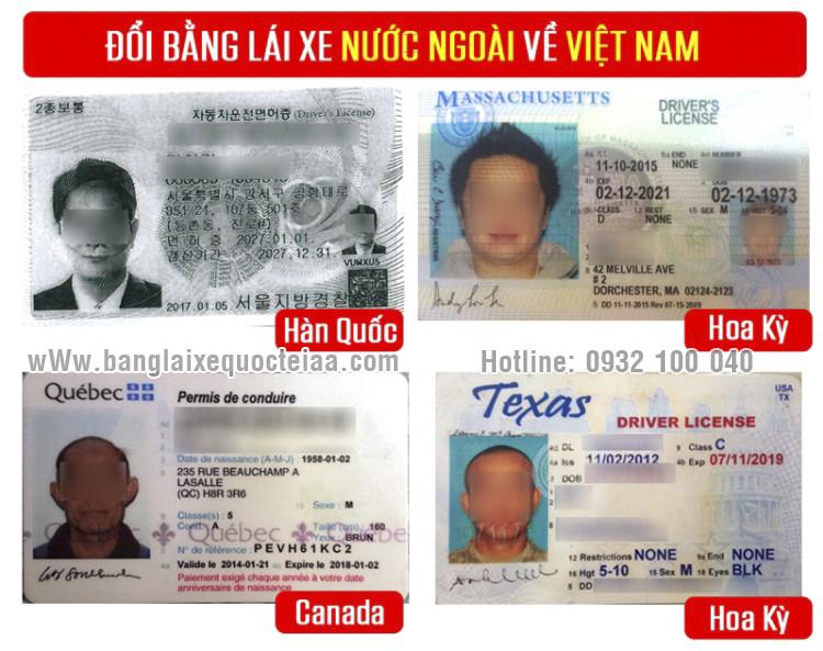 Thủ tục đổi bằng lái xe cho người nước ngoài - Hotline/ Zalo/ Viber: 0932.100.040