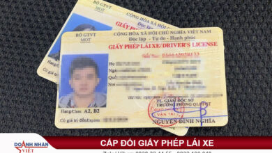 Thời hạn giấy phép lái xe